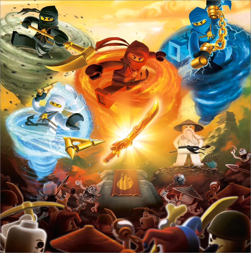 Dragon Sword Shurikens Scythe Nunchucks LEGO Ninjago Spinjitzu Gold Weapons