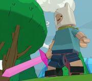 Finn with Crystal Sword
