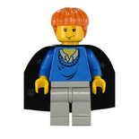 Ron blue sweater black cape