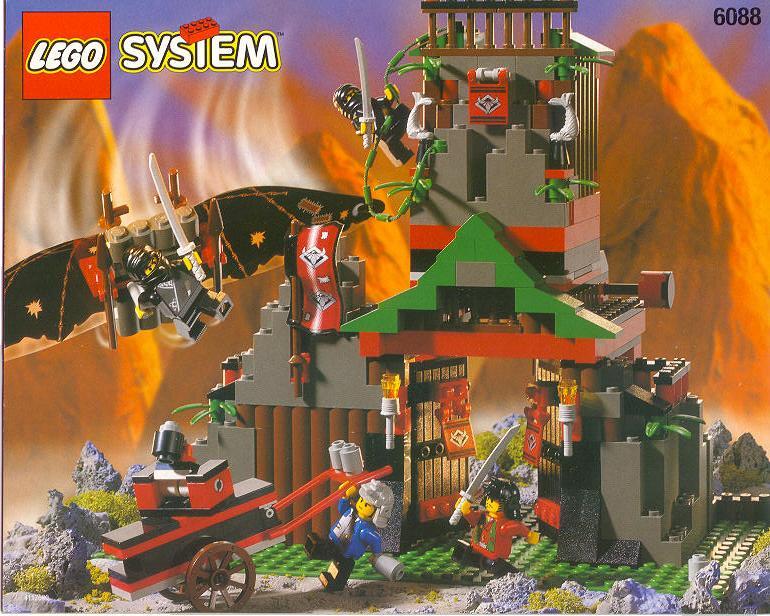 NINJA LEGO 6089 Red Plastic Flag 3 x 6 Ninja