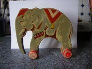 Wooden lego elephant2
