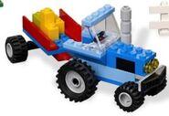 Blue Mini Tractor
