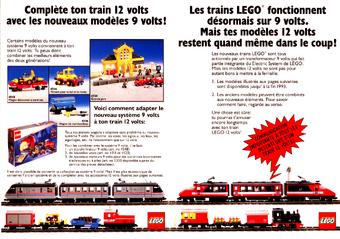 Lego 9V RC Railway TRAIN 7938 Waggon Passenger WAGON CAR MIDDLE