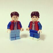 Marty McFly versions LEGO et Team BTTF