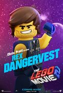 Lego movie two the second part rex dangervest poster