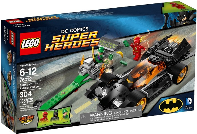 LEGO DC Comics Super Heroes 76012 Batman The Riddler Chase 304 pc set Age 6-12 Y