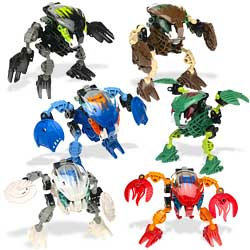 Lego Bionicle Bohrok KRANA Complete Mask SET of 8 in WHITE from 8551