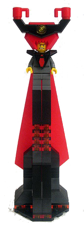 Lego Movie LONG RED CAPE from LORD BUSINESS set 70809