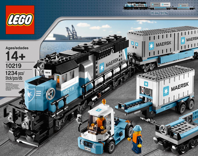 10219 Maersk Container Train Brickipedia Fandom Powered By Wikia