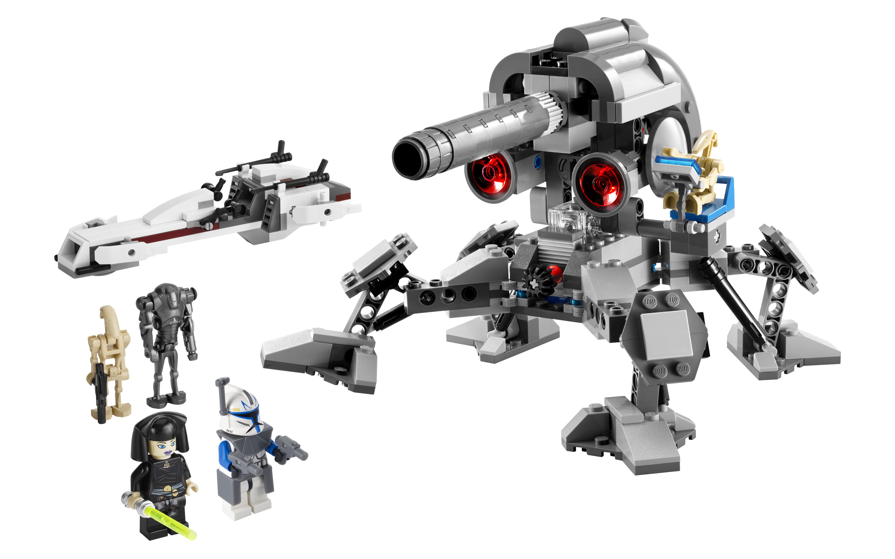 STAR WARS LEGO MINIFIGURE SUPER BATTLE DROD CANNON LOT of 3 FROM SET 8018 7869