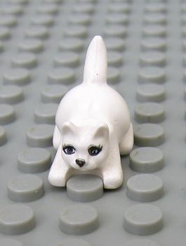 Lego New White Dog Bulldog with Black Eyes Nose Mouth Pet Minifigure Puppy
