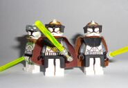 3 Clone gunner commander jedi's