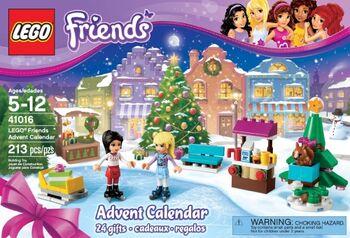 Lego Friends Calendrier De L Avent.41016 Le Calendrier De L Avent Friends Wiki Lego Fandom