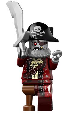 LEGO Zombie Pirate minifigure Series 14
