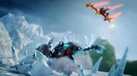LEGO CHIMA - Ice Mammoth Stomper vs Firephoenix Temple