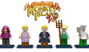 Monkey Island mansion minifigures