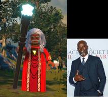 Shazam (Wizard) voiced by Djimon Hounsou