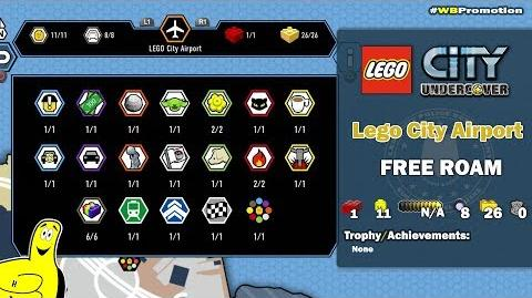 Lego City Undercover- Lego City Airport FREE ROAM (All Collectibles) - HTG