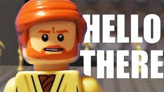 """Hello There"" in LEGO - Revenge of the Sith scene recreation"