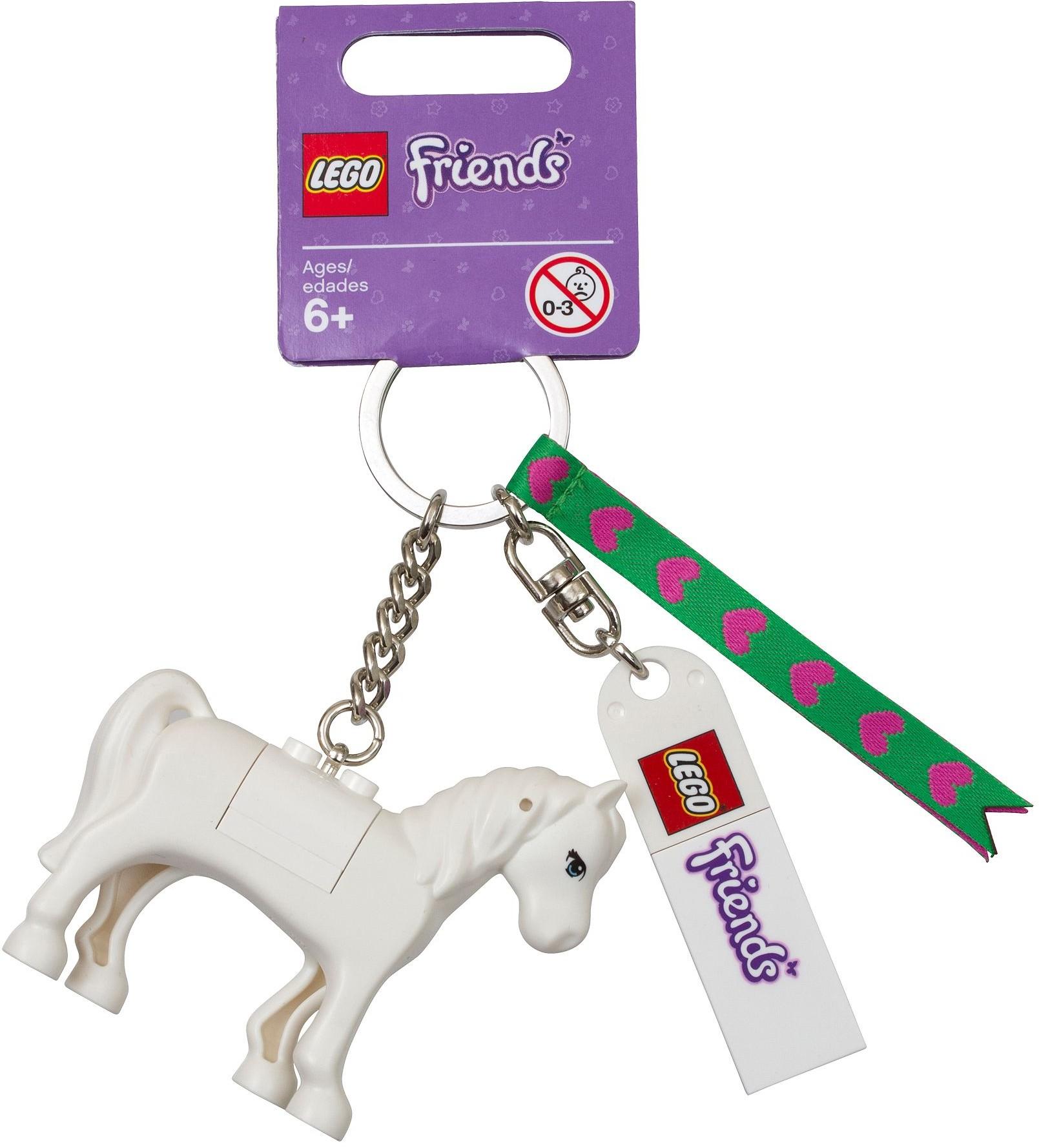 LEGO  White Horse KEY CHAIN BAG CHARM  Friends Animal Pet  *** NEW ***