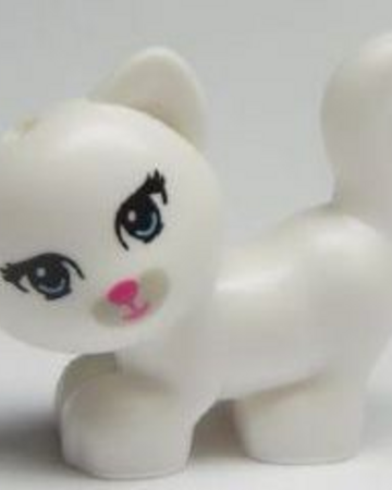 NEW White and Gray Cat Jewel LEGO Friends Animal