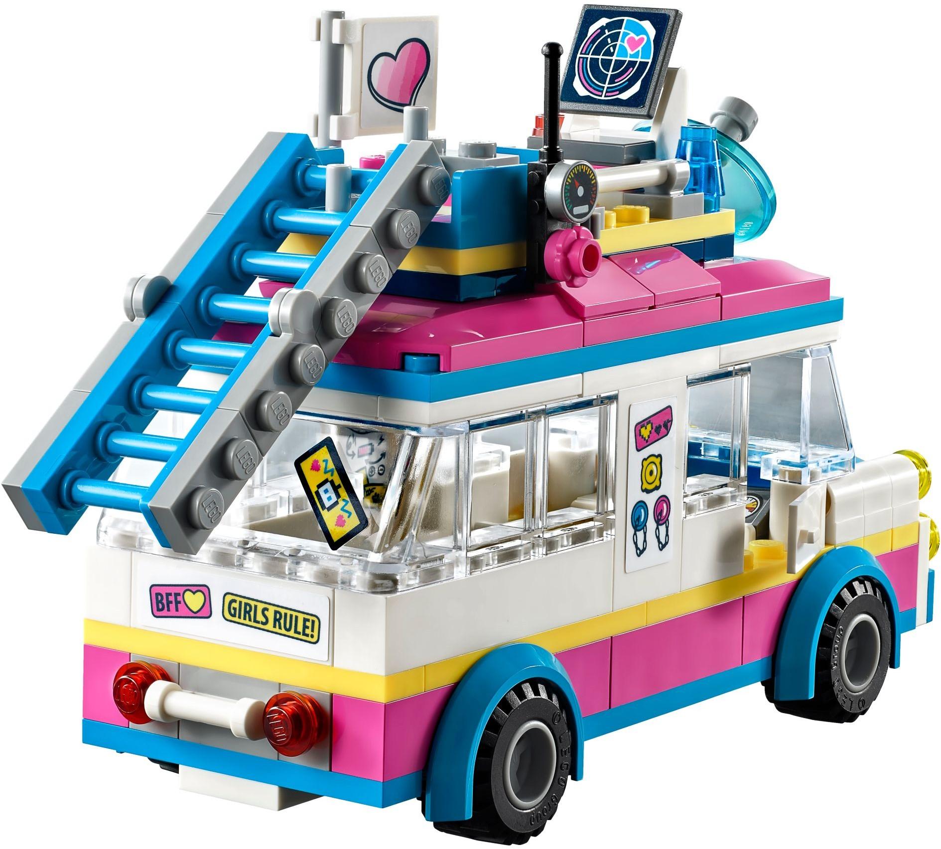 LEGO Friends 41333 Olivia/'s Mission Vehicle Zobo rescue Vega cat ladder