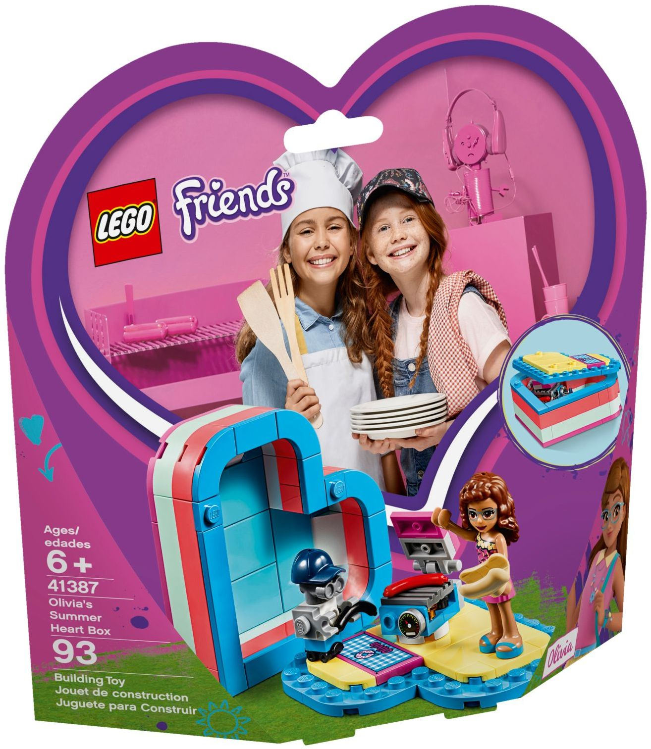 41388 Lego Friends Mia/'s Summer Heart Box Building Set