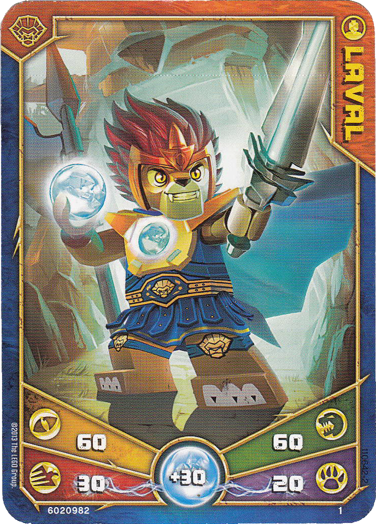 Lego Legends Of Chima 5 x Crominus Game Cards NEW