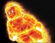 Human torch flaming