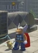 Beta ray man and his hammer