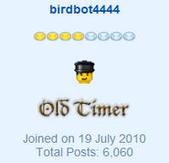 Birdbot4444 - Old Timer