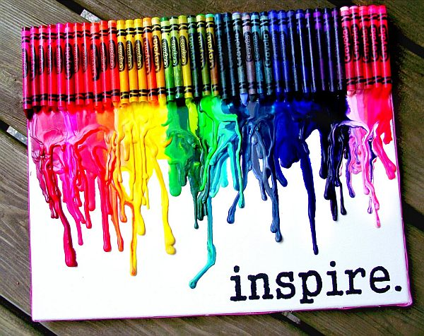 inspiring colorful diy melted crayon art design ideasjpg - Art Design Ideas