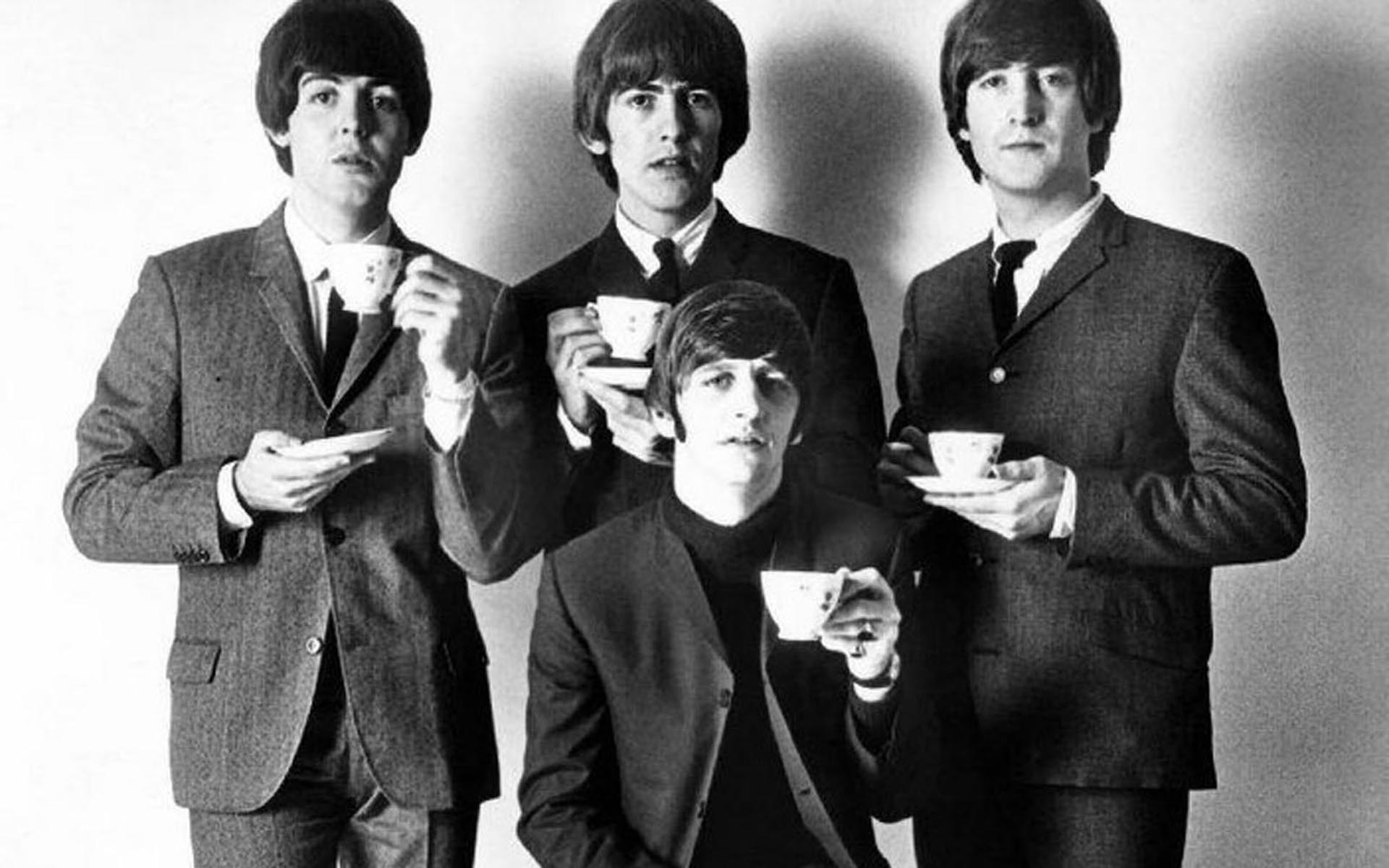 The Beatles Wallpaper Black And White