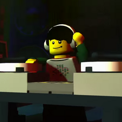 The DJ in the Lego Minifigures Online reveal trailer.
