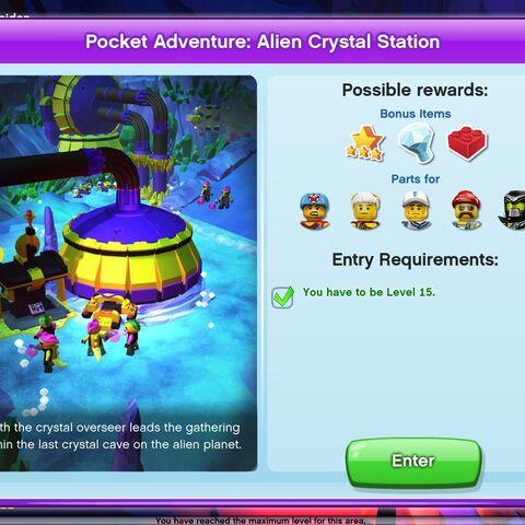 Alien Crystal Station entrance screen