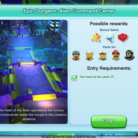 Alien Command Center entrance screen