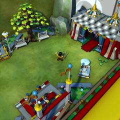 The bugged lower minigame platform.