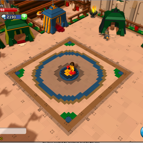 The middle of the training grounds in the Kingdom.