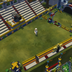The upper portion of the minigame area.