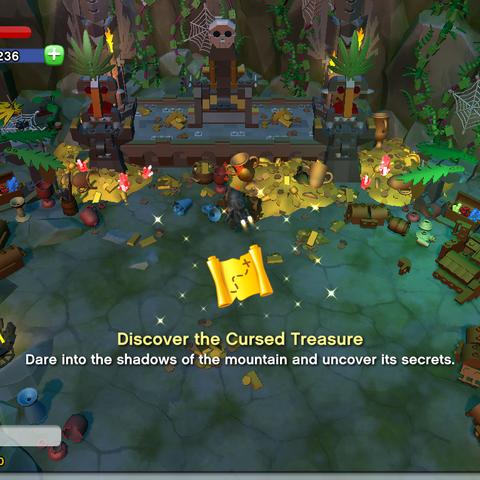 Discover the Cursed Treasure Achievement awarded