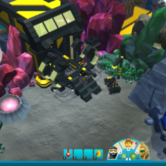 The old Space area's Blacktron entrance.
