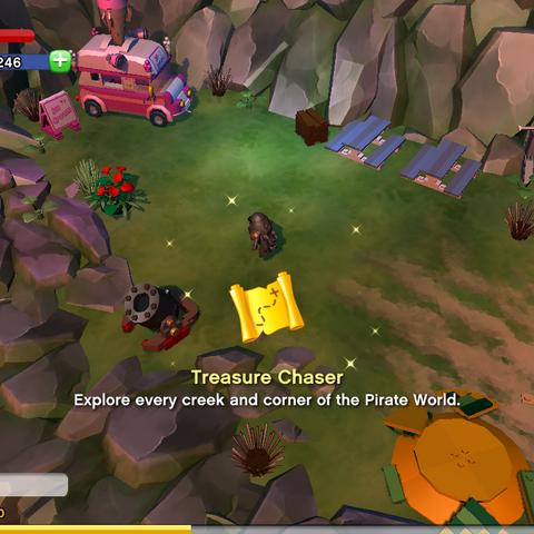 Treasure Chaser Achievement awarded