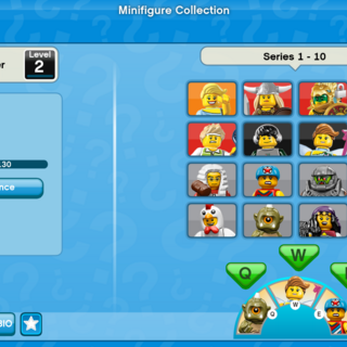 The original Minifigure Collection UI.