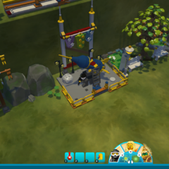 The lower portion of the minigame platform.