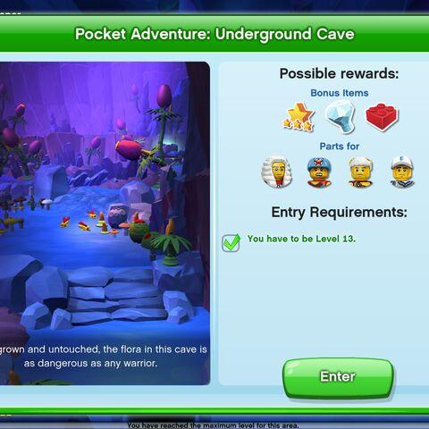Underground Cave entrance screen