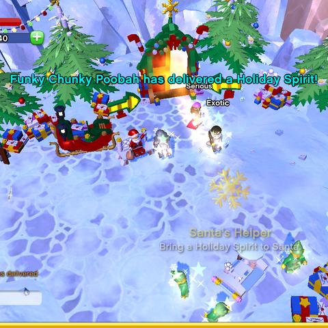 Santa's Helper Achievement awarded