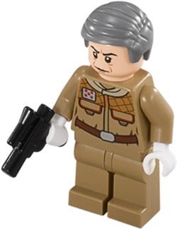 Lego Star Wars General Rieekan Mini Figure