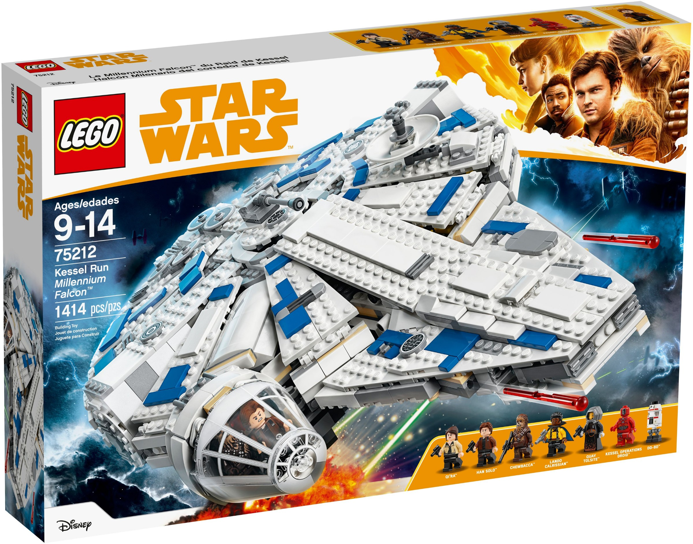 Lego Star Wars Han Solo Lando /& Calrissian Minifigure Millennium Falcon 75212