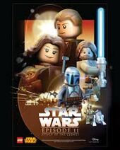 Lego star wars attack of the clones poster