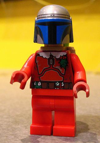 NEW Star Wars Boba Fett as Santa Clause CHRISTMAS Minifigure For Lego